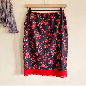 Rampage • vintage rose floral lingerie skirt small